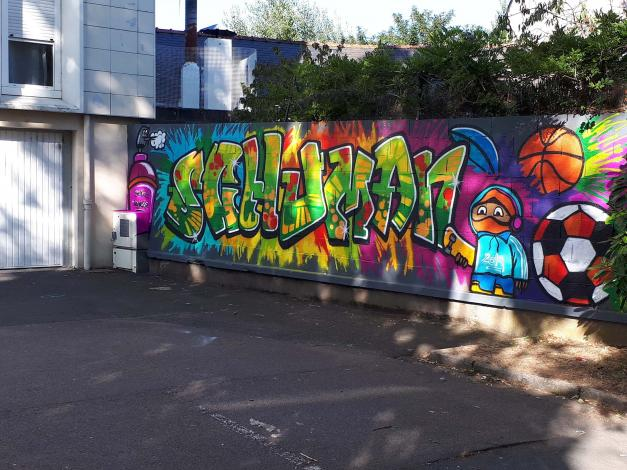 Réalisation d'une fresque / Résidence Schuman